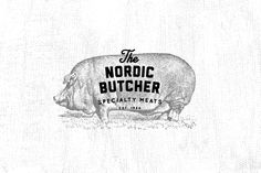 Nice branding for The Nordic Butcher by Stefan Weidauer, via Behance