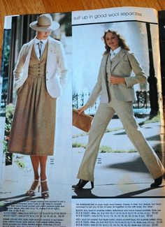 Recently, at an antique mall, I found this 1979 Spiegel catalog and purchased it without hesitation. I have a real soft spot for this per. Seventies Fashion, 80s Fashion, Fashion Photo, Vintage Fashion, Vintage Outfits, Vintage Clothing, The Wedding Singer, Fashion Project, Future Fashion