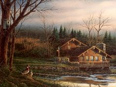 Terry Redlin Prairie Monuments HD Print Art Home Decor Oil Painting on Canvas
