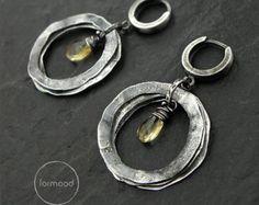 Earrings - light citrine