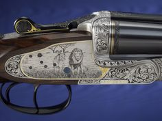 .450 Rigby Rifle engraved by Lisa Tomlin