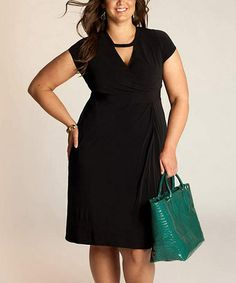 5ff39e30c88 Another great find on  zulily! Black Veronica Surplice Dress - Plus by  IGIGI