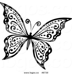 Butterfly Flying Clipart Black And White - ClipartFest | Flying ...