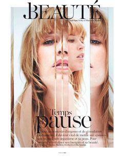 Temps De Pause Cisco by Damien Blottière for Vogue Paris April 2013 1 Vogue Paris, Editorial Design Inspiration, Editorial Layout, Typography Images, Typography Layout, Frederique, Vogue Magazine Covers, Fashion Cover, Branding