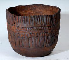 slab built pottery -texture