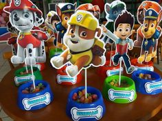 2 Birthday, Kids Birthday Themes, Kids Party Themes, 3rd Birthday Parties, Paw Patrol Party Decorations, Paw Patrol Centerpieces, Paw Patrol Birthday Theme, Cumple Paw Patrol, Paw Patrol Cake