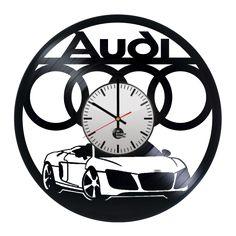 Audi AG Handmade Vinyl Record Wall Clock - VINYL CLOCKS