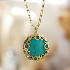 Bubble Turquoise Necklace from queenspark