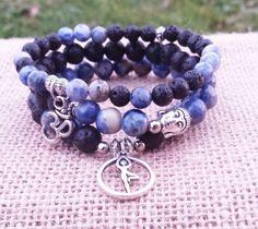 Yoga Stacks Gemstones Bracelets Stacking Set by BohemianChicbead