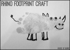 Rhino Footprint Craft - House of Burke