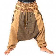 pantalones afganos con dos grandes bolsillos laterales