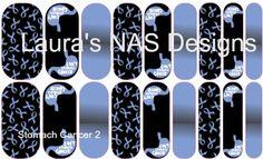 Stomach Cancer 2 #NAS #Jamberry #NailArtStudio #NailArt #DIY #laurasnasdesigns #stomachcancer #awareness