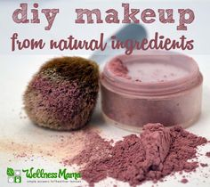 Natural Blush Make-up Recipe-Simple homemade makeup without the preservatives and toxins of conventional makeup from WellnessMama.com #natural #makeup #wellness