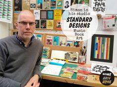 Standard Designs' #Music #Book #Art - @HomeArtyHome http://homeartyhome.com/standard-designs-music-book-art/