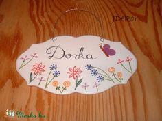 Virágos-rét, neves tábla!, Dekoráció, Baba-mama-gyerek, Dísz, Gyerekszoba…