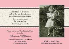 Adult Birthday Photo Invitation Custom Design You Print JPG Digital DIY. $19.00, via Etsy.