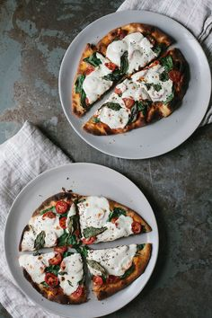 Flatbread Pizza 3 Ways: Margherita, Spring Asparagus with Pickled Radish, and Greek Tzatziki | A Daily Something