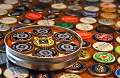 Bottle Cap Coaster / Beer / Blue Moon by 57RIK3RsHandmade on Etsy