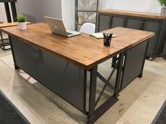 stylish desks with industrial designs and elegant details brooklyn industrial office