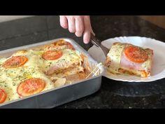 LANCHÃO DE FORNO SUPER PRÁTICO E DELICIOSO - YouTube Lunch Recipes, Cooking Recipes, Healthy Recipes, Nova Pizza, Latin Food, 30 Minute Meals, Finger Foods, Food Videos, Good Food