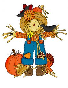 Printable Scarecrow Clip Art | Dearie Dolls Digi Stamps | Free digital images and a little poetry to ...
