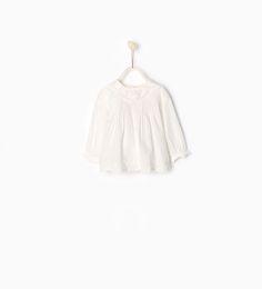 White embroidered blouse | ZARA United States