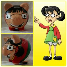 La chilindrina Pig Bank, Personalized Piggy Bank, Cute Piggies, Ideas Para Fiestas, Save Your Money, Flower Pots, Mickey Mouse, Disney Characters, Fictional Characters