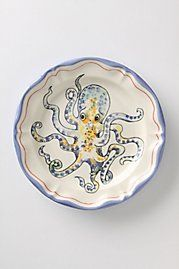 De Vincennes Dinner Plate, Octopus (or any plate from Anthropologie)