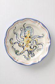 De Vincennes Dinner Plate, Octopus