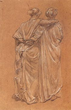 Study of Two Female Figures by Albert Moore