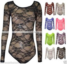 NEW-LADIES-FLORAL-LACE-BODY-TOP-BODYSUIT-LEOTARD-SIZE-8-10-12-14-16-to-26