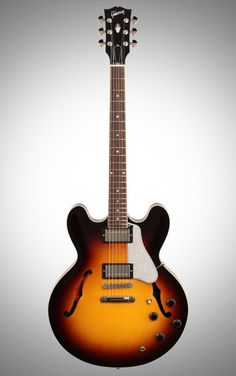 Gibson ES-335 Electric Guitar: Join countless blues and rock luminaries who have written famous licks on an ES-335. This semi-hollow has robust tone from nickel '57 Classic humbuckers.