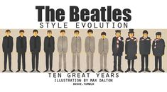 The Beatles Style Evolution