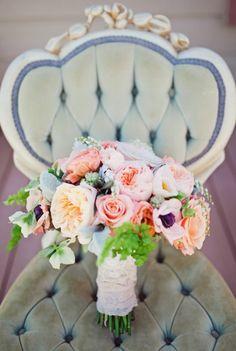 Flowers + romantic furniture