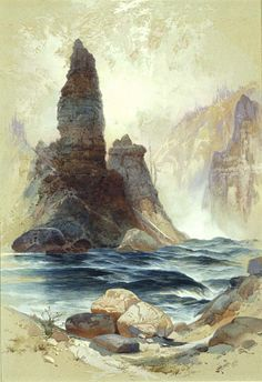 Above Tower Falls, Yellowstone by Thomas Moran / American Art