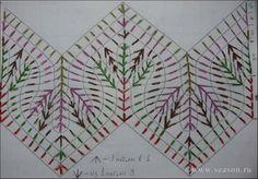 New crochet shawl pattern tunisian ideas Crochet Ripple, Crochet Diagram, Basic Crochet Stitches, Crochet Chart, Crochet Motif, Knitting Stitches, Tunisian Crochet, Fair Isle Knitting Patterns, Crochet Blanket Patterns