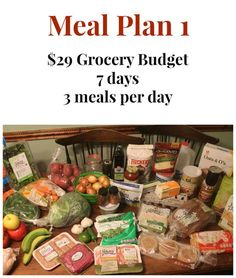 29 Dollar Grocery Budget Meal Plan 1 - Real: The Kitchen and Beyond