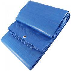 Lona para toldos de polietileno (rafia) disponible en varias medidas y con ojales de aluminio colocados a un metro de distancia. Reforzada con hilo interior.