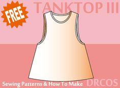 Tanktop3 Sewing Patterns   DRCOS Patterns & How To Make