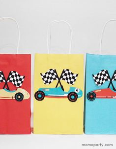 Race Car Gift Bag Stickers (Set of 12) – Momo Party Race Car Party, Race Cars, Goodie Bags, Gift Bags, Race Car Stickers, Car Themed Parties, Modern Kids, Best Part Of Me, Party Themes
