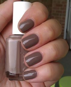 Glamour Purse---Essie Fall 2011 I don't really like brown nail polish but I would rock this!
