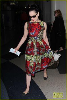 1c94448e83a3 Dita Von Teese Can Not Relate to Victoria s Secret Supermodels DvT wearing  a Lena Hoschek dress.