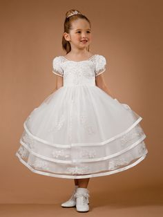 Click now! Communion Dress  http://www.jalisbridal.com/full-collection/christening-communion-outfits/lc-5526.html $199