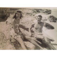 Honeymoon in the bahamas. Grandparents 1940's.