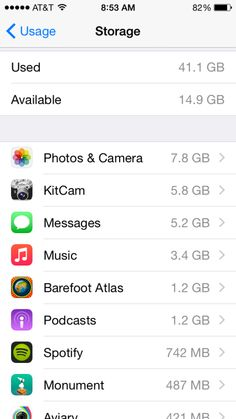 How to find out how much memory your apps take up on your device