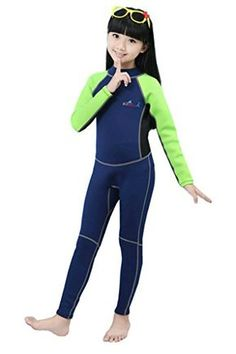 Kids One Piece Long Sleeve Full Body Sun Protection Rash Guards Swimsuit With Cap Zip Up Lycra Wetsuit Swimwear Baby Girls Boys Water Sports Sports & Entertainment