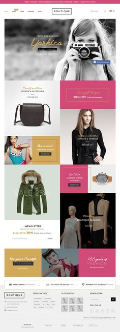 Boutique is a modern, clean and professional Shopify Theme for multipurpose eCommerce #website with 20+ homepage demos. #fashion #dress Download Now!
