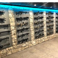 Via So stoked to work with Derek and on their new HQ. This place is turning out amazing and this is just a little piece. Thanks for letting us be a part of it. Weapon Storage, Gun Storage, Gun Safe Room, Reloading Room, Tactical Wall, Gun Vault, Gun Rooms, Shooting Range, Guns And Ammo
