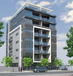 современные девятиэтажные дома - Поиск в Google Building Elevation, Building Exterior, Building Facade, Building Design, Archi Design, Facade Design, Exterior Design, Brick Architecture, Residential Architecture