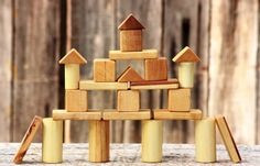 SALE! Handmade wooden blocks, eco friendly toys, children wooden toys. on Etsy, $19.90